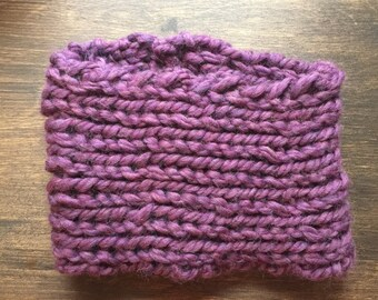 Chunky Knitted Cowl of Wool