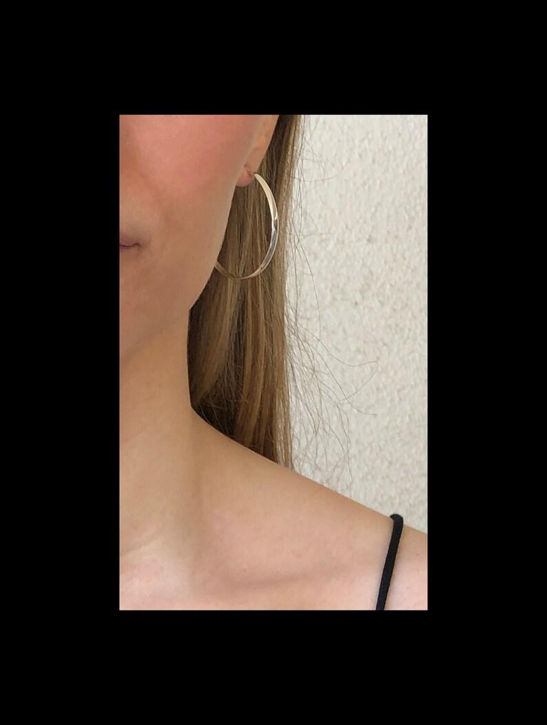 Sterling Silver Jewelry Sterling Silver Hoops Post Earrings Jazz: Oval Hoop Earrings