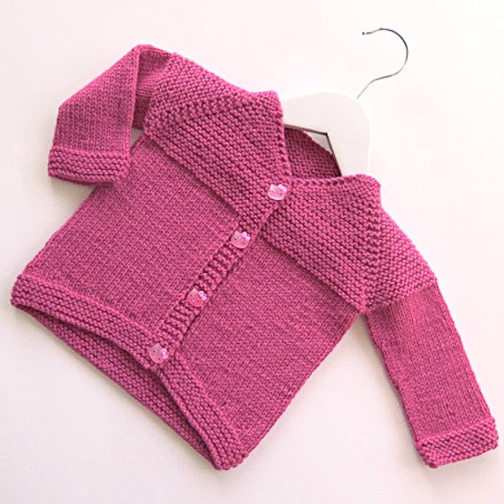 f16d9f4d7 Minimal Knits 2 Easy V-Neck Cardigan for Baby Knitting