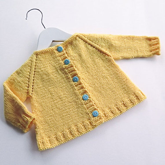 Minimal Knits 3 Easy Baby Cardigan Knitting Pattern PDF | Etsy
