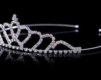 Toddler Rhinestone Tiara Crown eef239b3a53