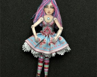 Alice - Articulated Doll - Jewelry puppet