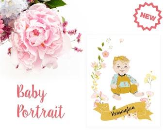 DIGITAL DOWNLOAD - Baby Nursery Portrait