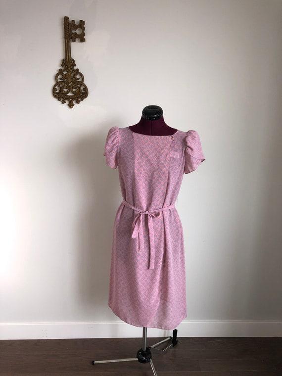 Vintage 1980s Dress, Jody California – Pink / Blue