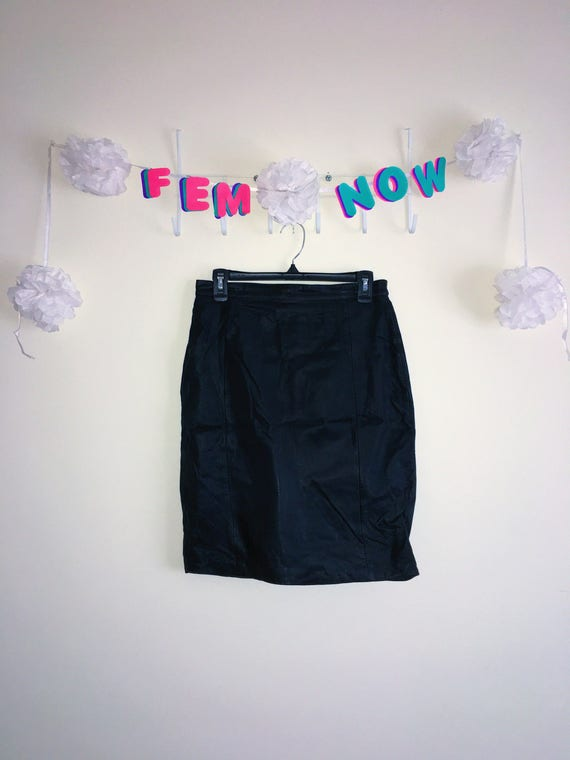 Rare Vintage 1980s Skirt, Mystique – Leather with