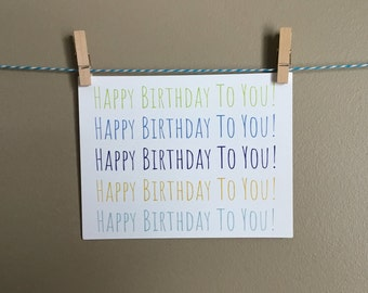 Happy Birthday To You Cards Wholesale Bulk Notecards