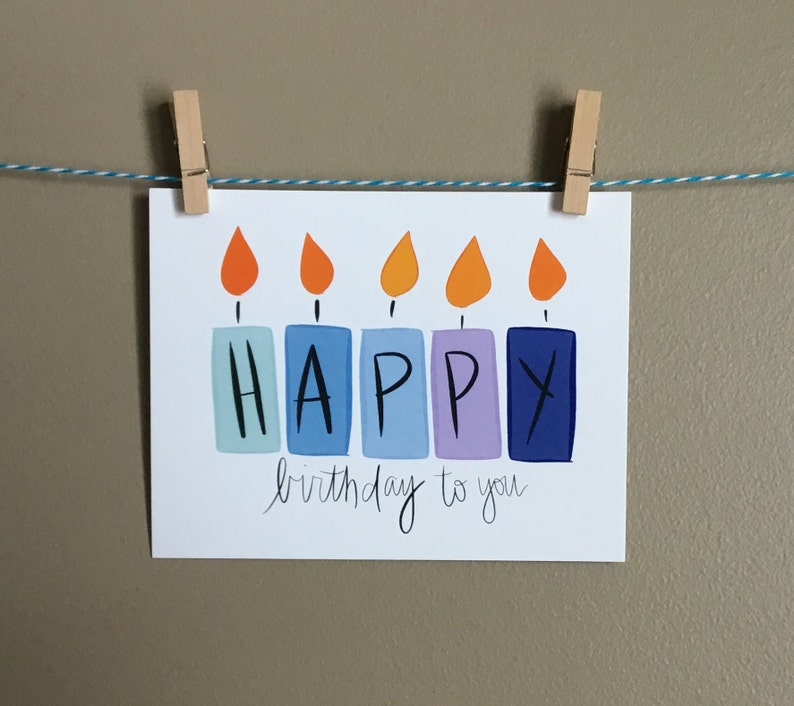 Birthday Candles Happy Cards