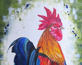 Large chicken, rooster, hen