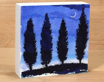 Four Night Trees