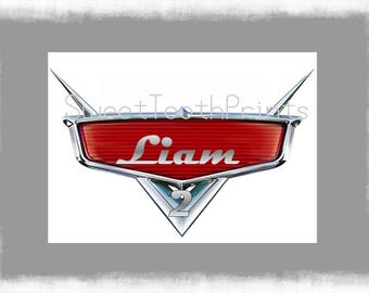 Disney Cars Logo (Personalize with Name and Age)