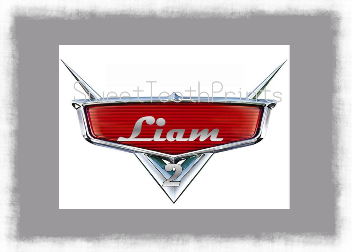 Disney Cars Logo Personalize With Name And Age Etsy