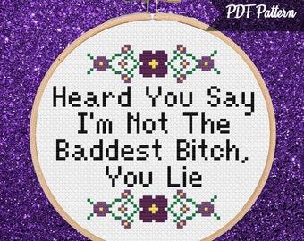 Lizzo 100% That Bitch Cross Stitch PDF Pattern Instant | Etsy