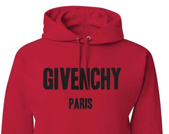 3b261f8d109341 Givenchy Paris Sweatshirt Givenchy Paris Hoodie Givenchy Red Unisex  Sweatshirt