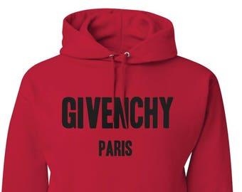 Givenchy Paris Sweatshirt Givenchy Paris Hoodie Givenchy Red Unisex  Sweatshirt 11ac2df292