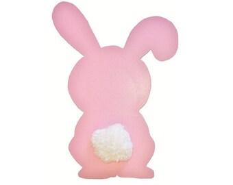 Baby Pink Bunny tail tassel wool 29 x 20 cm girl
