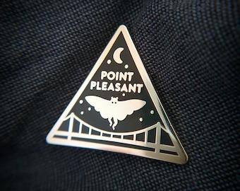 Mothman Hard Enamel Pin, Point Pleasant, Cryptozoology Lapel Pin