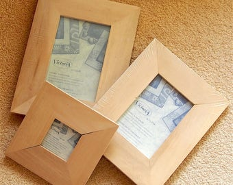 Set of 3 wooden picture frames