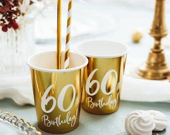 Hippie Birthday Party Favor Cups C20296 Fun Birthday Cups 60th Party Favor Cups Retro Birthday Groovy Birthday
