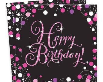 Pink Celebration Paper Party Napkins,adult party,party napkin