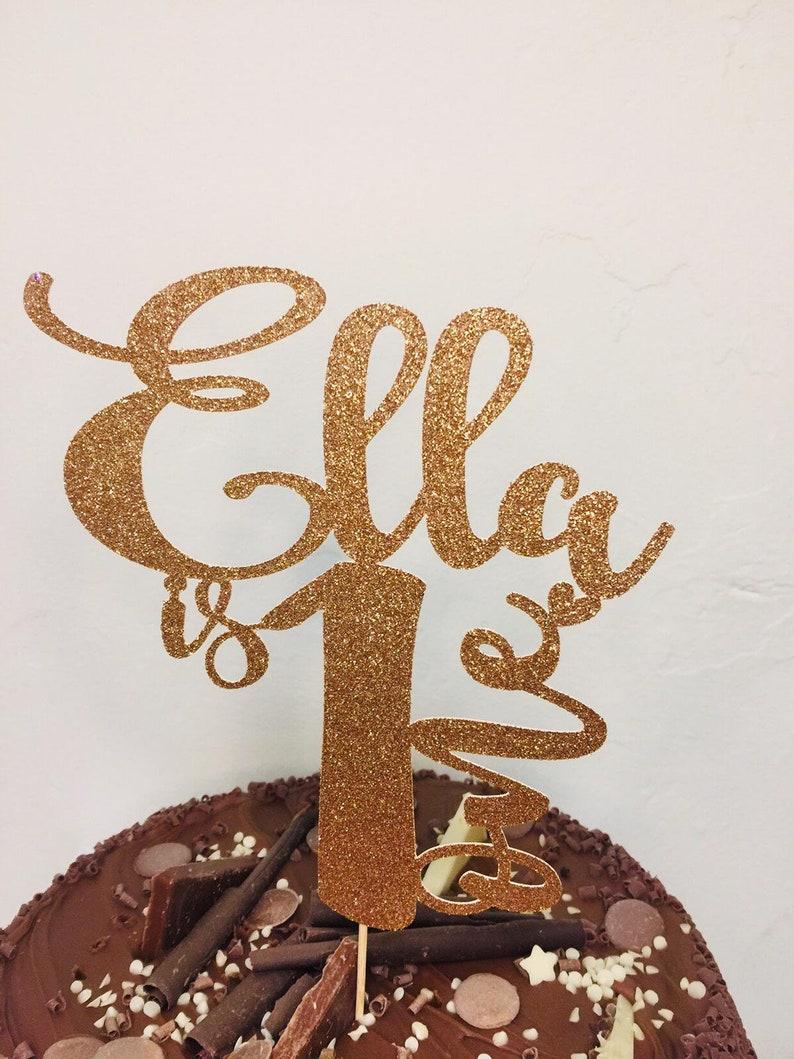 First Birthday Cake Topper Custom Cake Topper Name Cake Topper Personalised Birthday Cake Topper Personalised Birthday Cake Topper