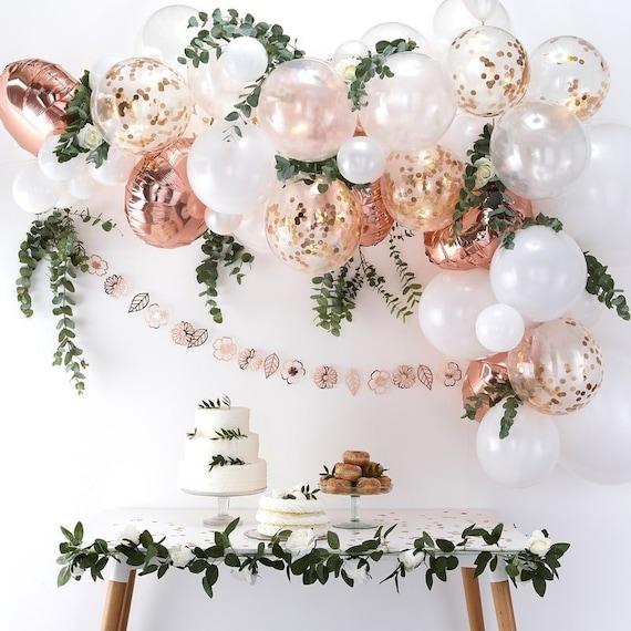 Balloon Arch Kit Rose Gold Rainbow Gold Wedding Baby Etsy