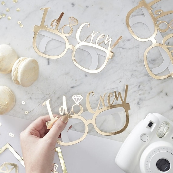 Gold foiled fun glasses