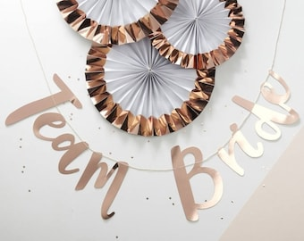Rose gold Team Bride hen party bunting-backdrop,hen party decoration