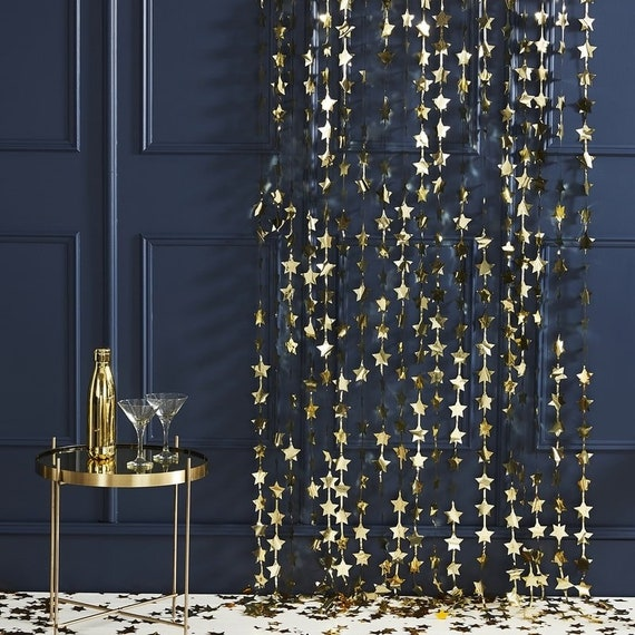 New 50th Birthday Door Curtains 2m
