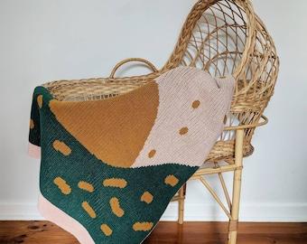 SUNRISE Merino wool baby blanket