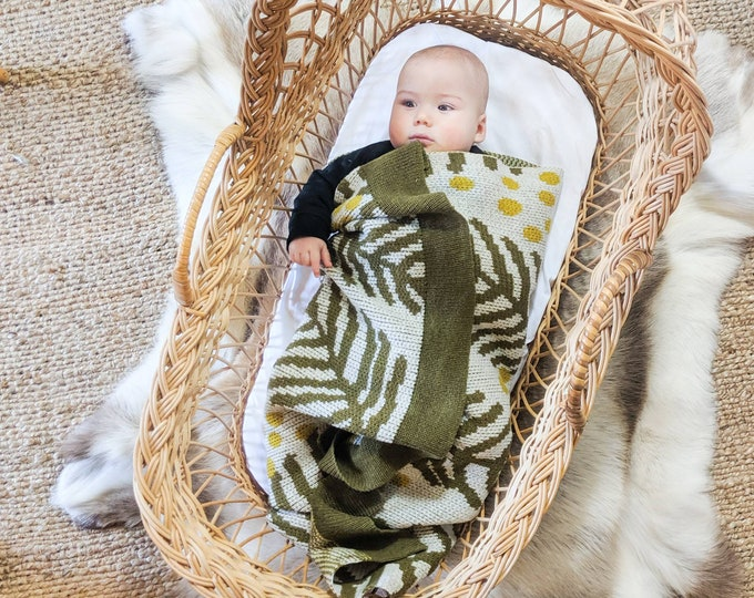 Featured listing image: WATTLE baby blanket
