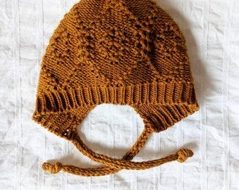 ALDER Cashmere cotton baby bonnet