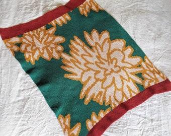 CHRYSANTHEMUM merino wool baby blanket
