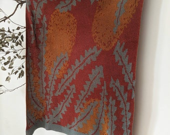 BANKSIA • Cotton Cashmere Baby Blanket • Knitted Bassinet Blanket • Pram Blanket • Bunny Rug