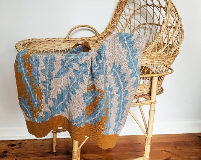 Featured listing image: BANKSIA pure merino wool baby blanket