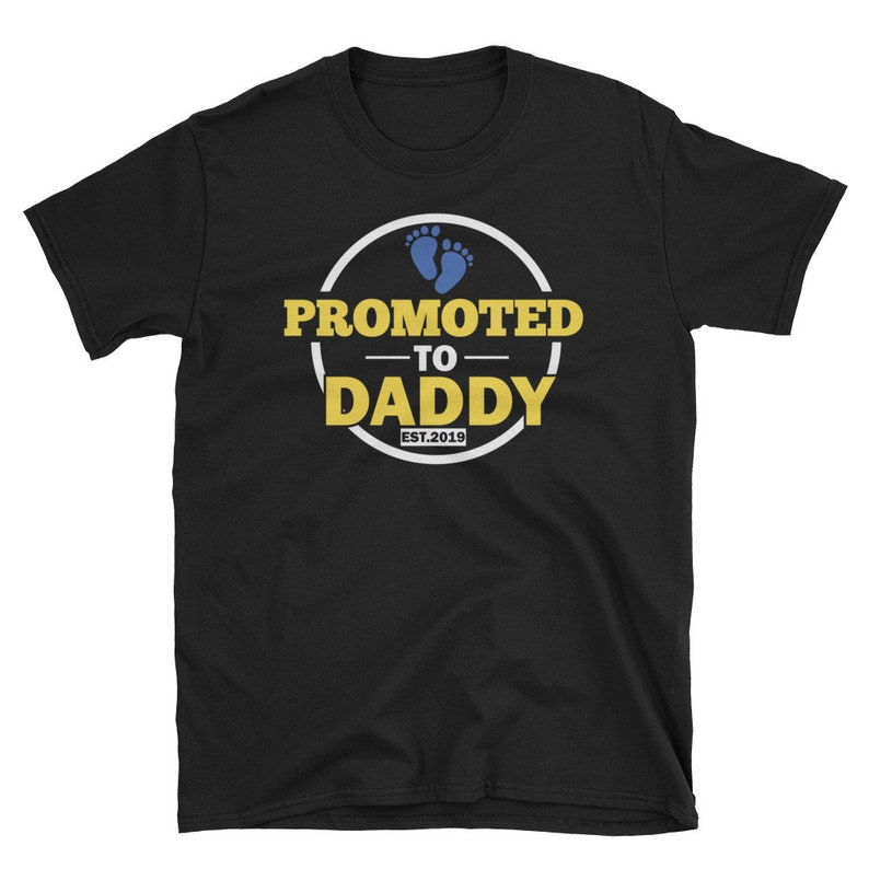 327e38a7 Promoted To Daddy Est 2019 T Shirt New Dad Gift From Baby | Etsy