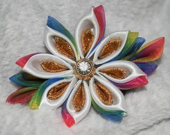 Unicorn Kanzashi Flower