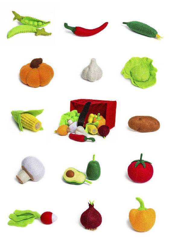 Game for kids Soft toy Chili Toy chili Garden Felt game Unusual decor  Vegetable garden Play kitchen toy Imaginative play