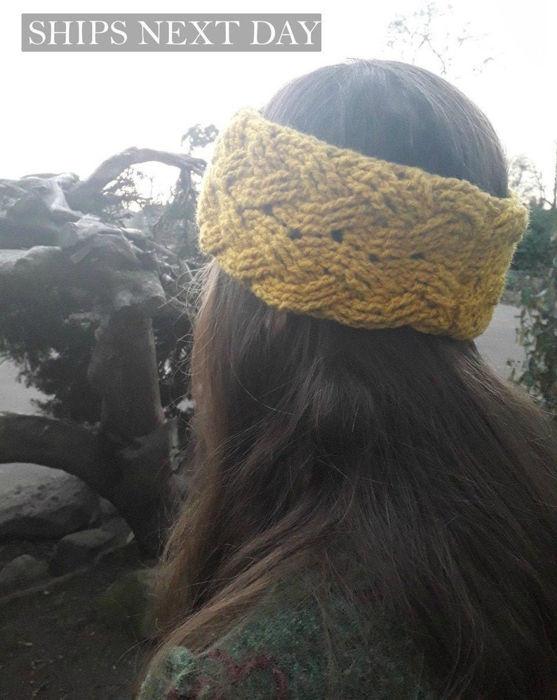 Fashion Charm Knot Head Wrap Ear Warmer Bow Knit Headband Turban Hair Band