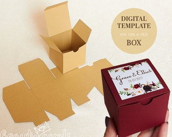 gift box template etsy