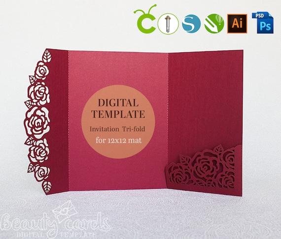 Pocket Wedding Invitation Template from i.etsystatic.com