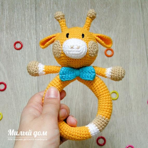 Giraf Rammelaar Haak Rammelaar Baby Rammelaar Geschenk Etsy