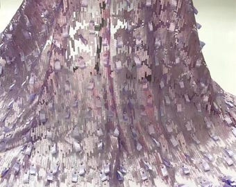 3D French Tulle Lace Fabric 5 yards