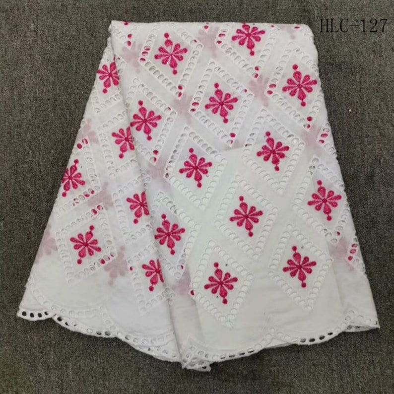 African Dry Lace Fabric Swiss Voile Lace In Switzerland High Quality For Men And Women Cotton Voile Lace Fabric