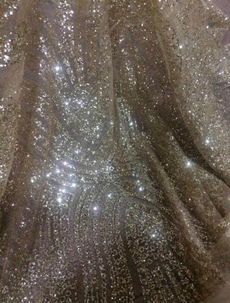 Glitter Lace Fabric New Design Net Stretchy Lace Fabric Tulle French Lace For Evening Dresses 1 Yard