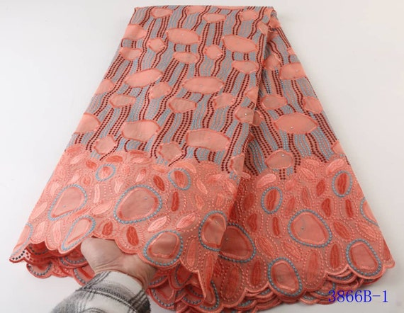 Soft Swiss Voile Lace Fabric For Men And Women Embroidered  Dry Voile Lace Material High Quality Lace Fabric 5 Yards