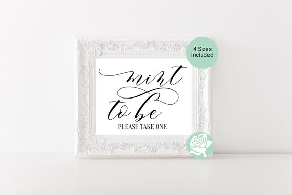 Mint To Be Wedding Favor Sign Mint To Be Favor Sign Mint To Be Etsy