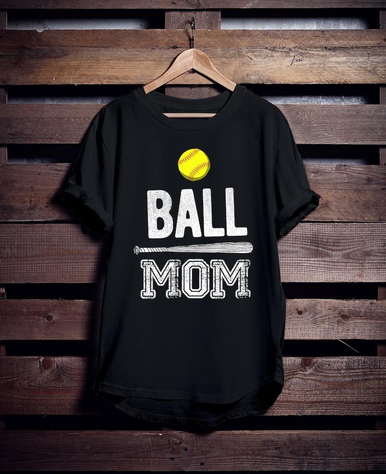 949db0d3a Softball Mom Tshirt Softball Mom Shirts Ball Mom | Etsy