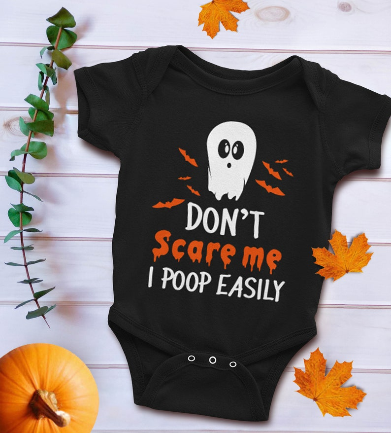 3870d58a2 Funny Halloween Baby Bodysuit Gift Don't Scare Me I Poop | Etsy