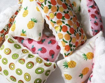 Handmade Mini 'Fruit' Fleece Pillows // for Guinea Pigs, Rats and small pets // Handmade in Australia // Cage Accessories // Mini Pillow