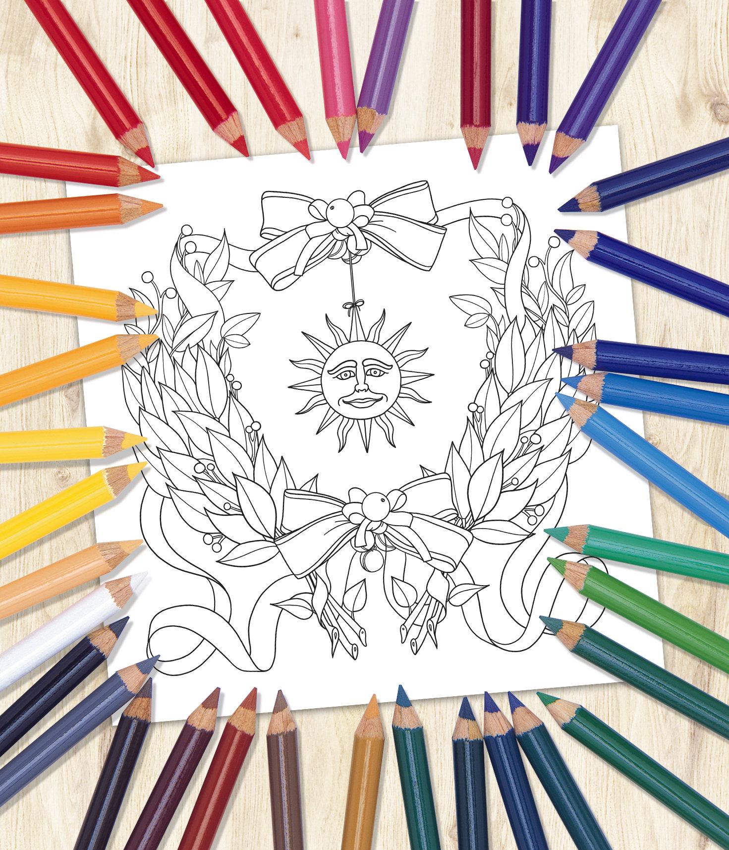 malvorlage lorberkranz  coloring and malvorlagan